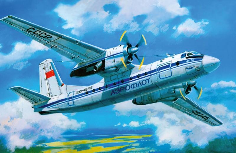 Ан-24 — основной наместных линиях