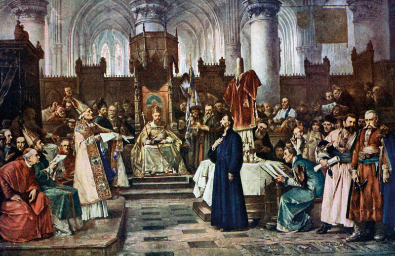 Ян Гус на Констанцском соборе