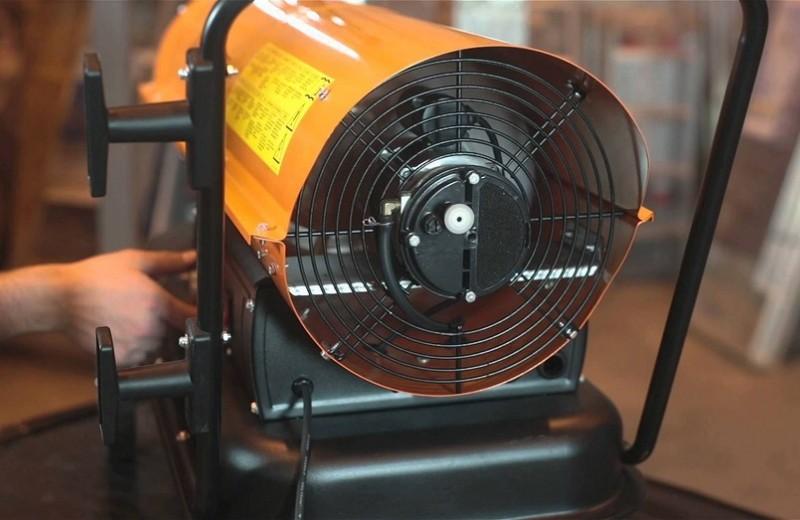 Тепловая пушка – лучший обогреватель для гаража или ремонтного бокса