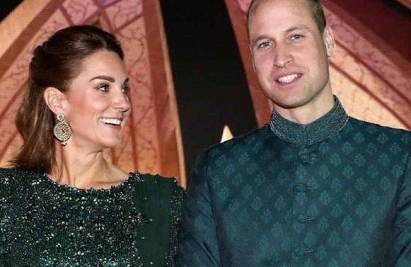 Кейт Миддлтон в сверкающем платье и эксклюзивных серьгах вышла в свет с мужем