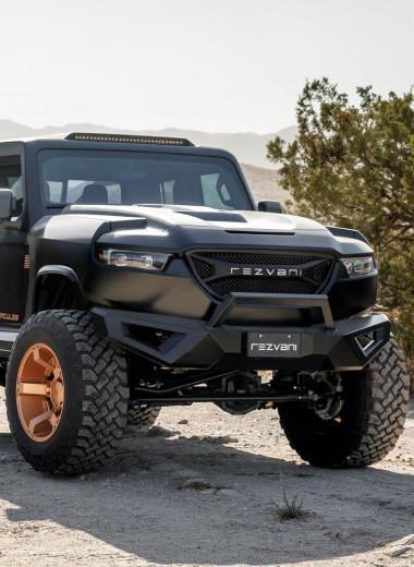 «Бог всех пикапов»: Rezvani сделал 6-колёсный броневик Hercules