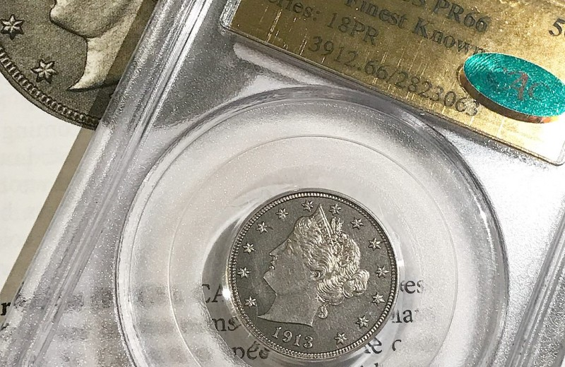 Редкая пятицентовая монета продана за $4,56 млн