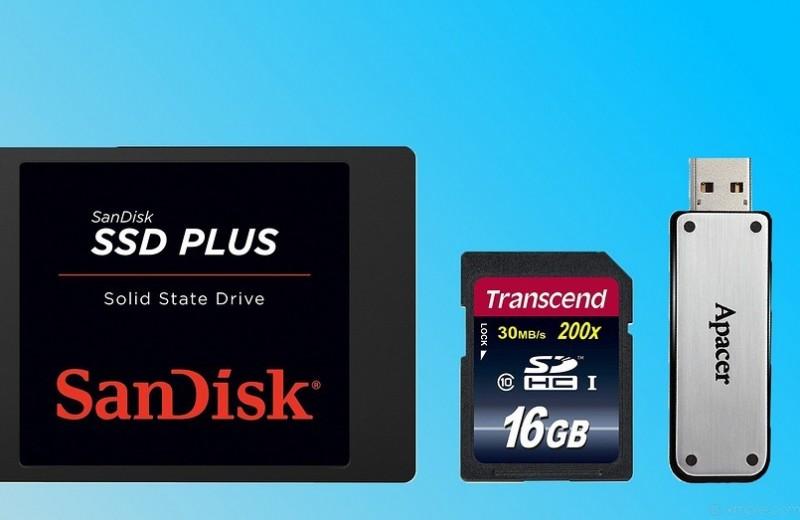 Флешка, SSD, карта памяти: в чем разница?