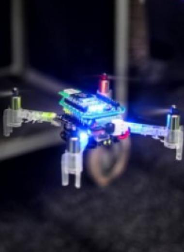 Рой дронов локализовал утечку газа
