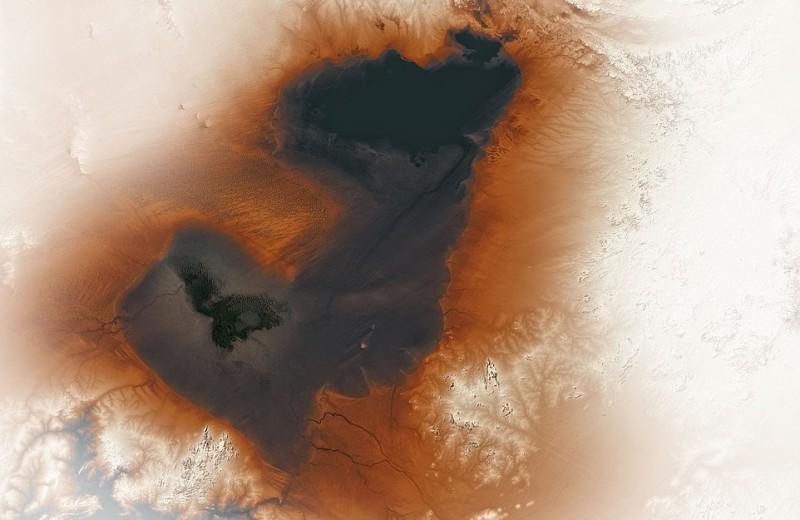 NASA опубликовало снимок гигантского древнего озера Сахары