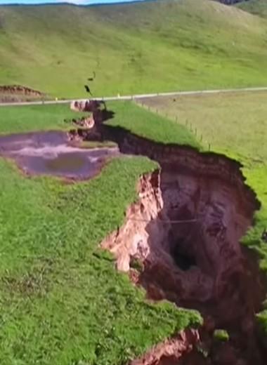 200-метровая трещина появилась в Новой Зеландии за одну ночь: видео