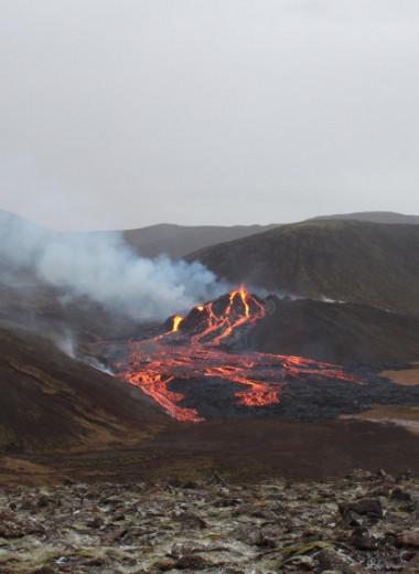 В Исландии началось извержение из 500-метровой вулканической трещины