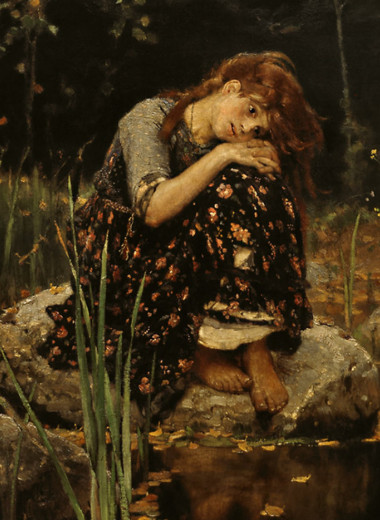«Аленушка»: первая версия девочки с персиками