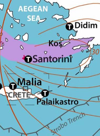 Вызванное минойским извержением Санторина цунами не нанесло критянам серьезного ущерба