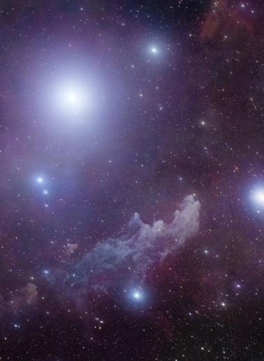 Слияние двух звезд привело к появлению синего сверхгиганта