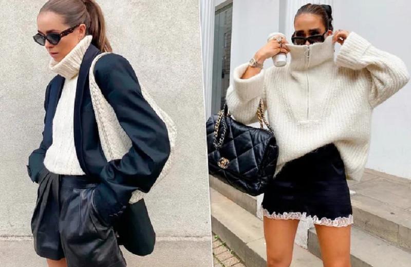 Носим свитер стильно — трендовые сочетания сезона осень-зима 2021/2022
