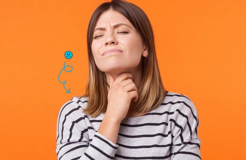 Ком в горле и другие проблемы с шеей: от безобидных до очень опасных