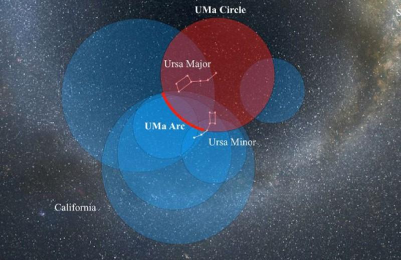 Астрономы обнаружили огромную ультрафиолетовую дугу в созвездии Большой Медведицы