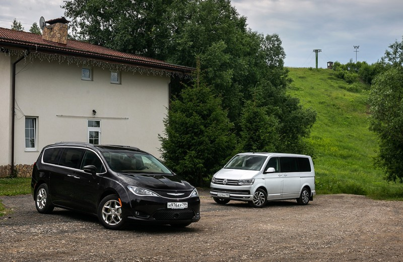 Большие дела. Chrysler Pacifica против VW Multivan