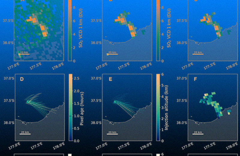 Спутник Sentinel-5 по выбросам газа предсказал маленькое извержение вулкана за 40 минут до его начала