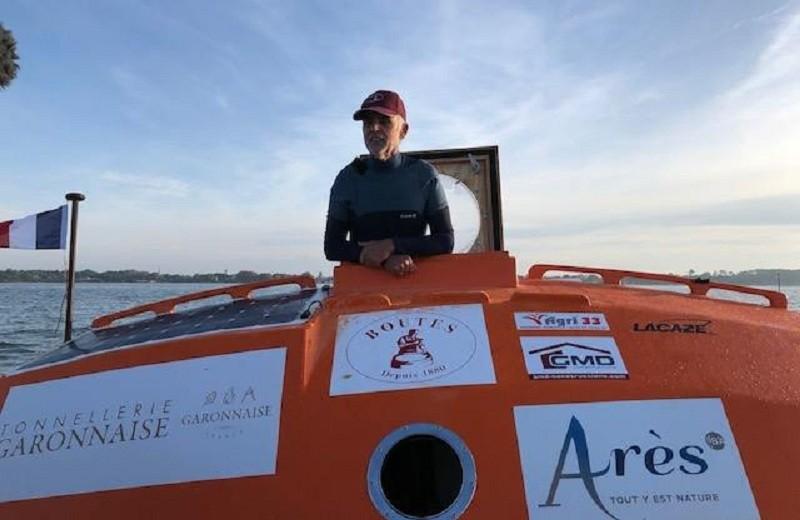 72-летний путешественник пересек Атлантику в бочке