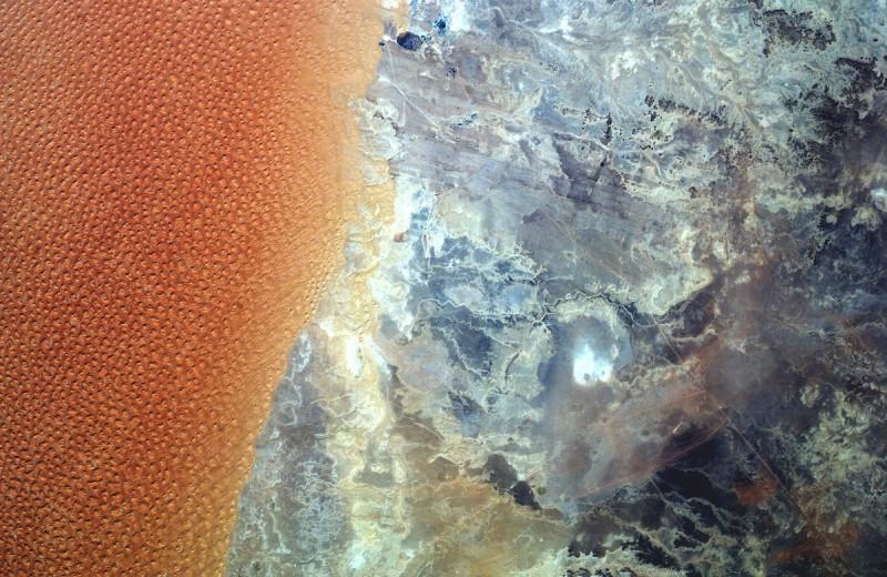 Дюнное море Алжира: вид из космоса