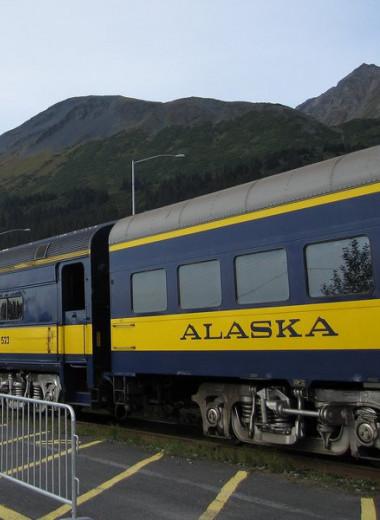 По Аляске ходит поезд-маршрутка. Он один из последних в своем роде