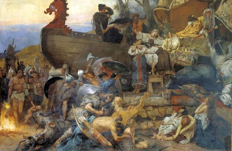 В Норвегии под землей нашли погребальную ладью викингов