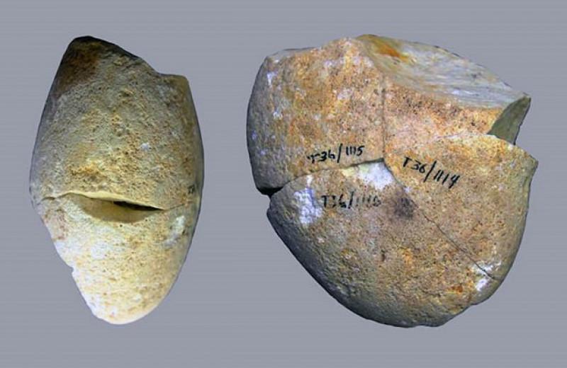 Круглый камень из израильской пещеры оказался древнейшим шлифовальным инструментом