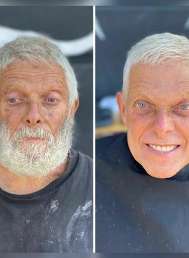 Прическа меняет все: этот парикмахер из Голливуда бесплатно стрижет бездомных людей