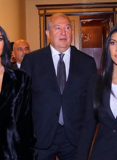 Ким Кардашьян извинилась перед президентом Армении и пообещала его удивить