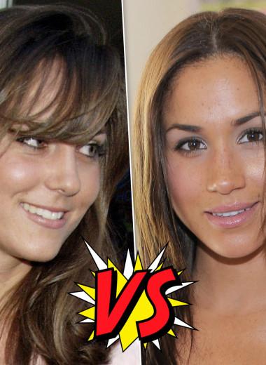 Бьюти-битва: сравниваем макияж Кейт Миддлтон и Меган Маркл до замужества