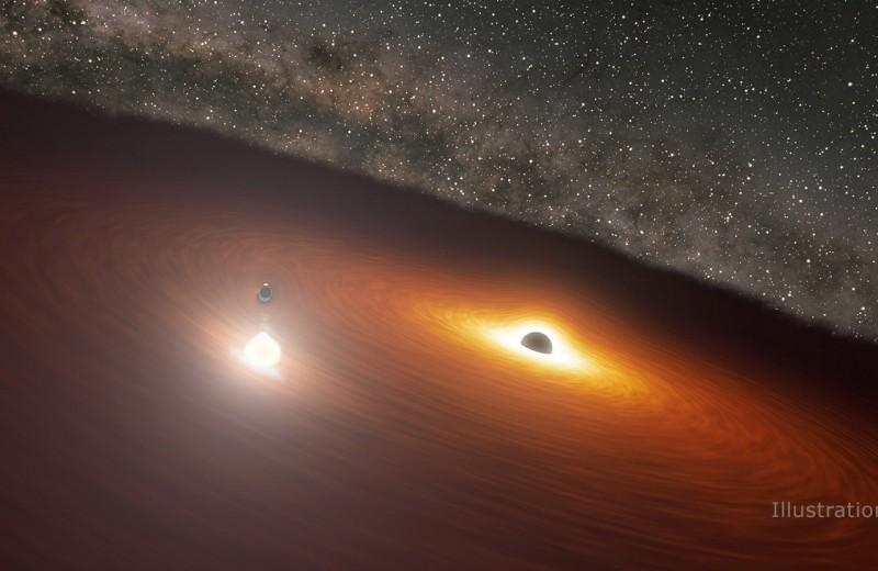 Астрономы спрогнозировали вспышку от взаимодействия двух черных дыр с точностью до четырех часов