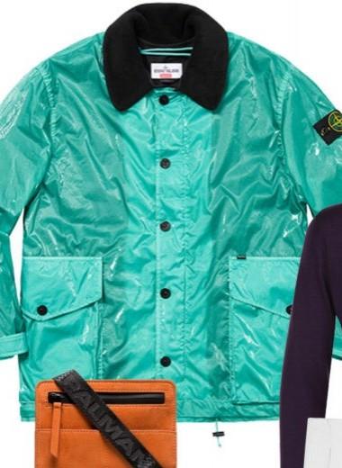 Бирюзовая куртка Supreme и Stone Island – ваша новая универсальная вещь