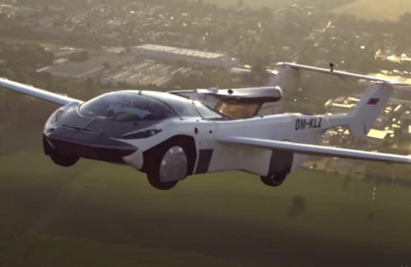 Летающий автомобиль совершил первый в истории междугородний перелет: видео