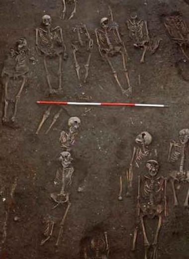 У половины мужчин, найденных на средневековом кладбище, были сломаны кости
