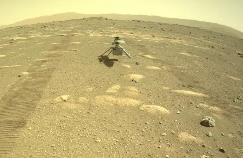 Мини-вертолет Ingenuity высадился на поверхности Марса