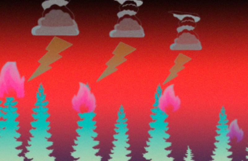 К концу века в Арктике станет больше природных пожаров из-за молний