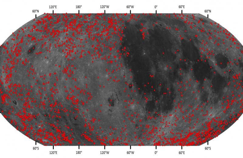 На Луне обнаружили более 100 тысяч новых кратеров