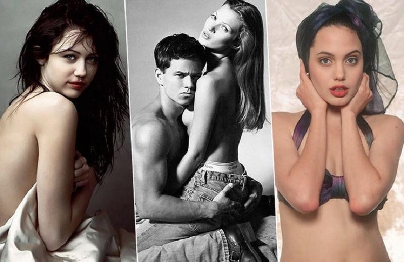 Первые откровенные съемки юной Кейт Мосс, Анджелины Джоли и других звезд