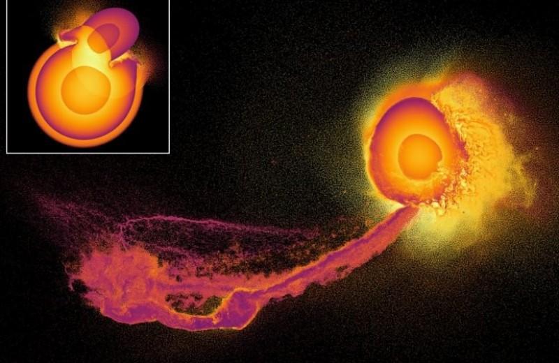 Что происходит с атмосферой при столкновении планет: видео