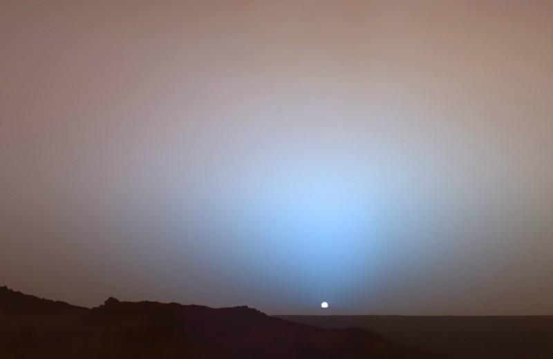 Какого цвета закат на других планетах