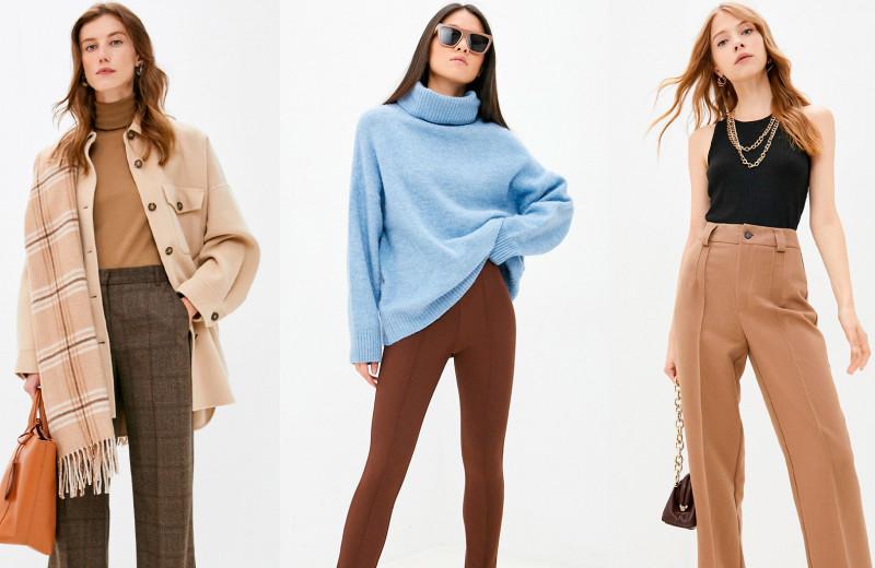 Лучшие базовые брюки на осень и зиму — 10 модных пар сезона коричневого цвета