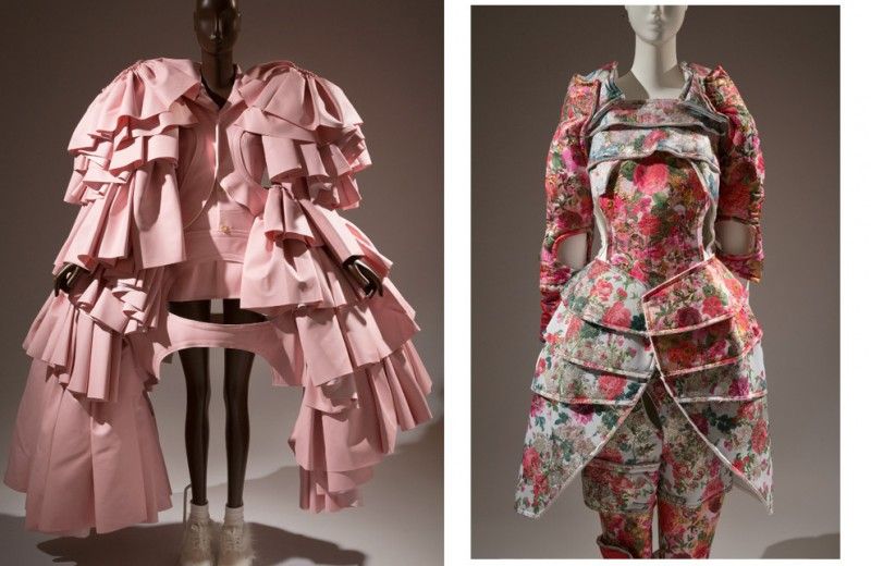 Все оттенки розового на выставке в Музее моды FIT в Нью-Йорке