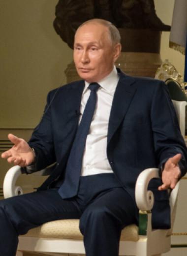 «Кто сказал, что меня пугает оппозиция?»: о чём Путин рассказал в первом за три года иностранном интервью
