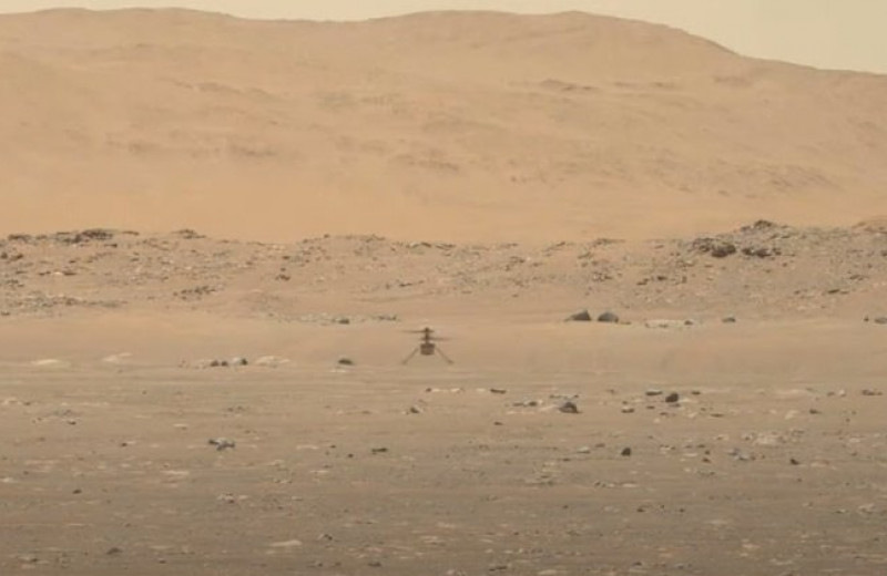 NASA показало полет Ingenuity над поверхностью Марса