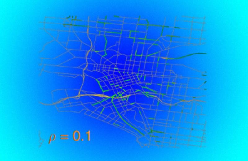 Эпидемиологическая модель предсказала появление автомобильных пробок
