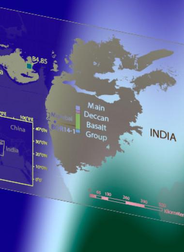 Дегазация глубинных магм разогрела климат перед вымиранием динозавров