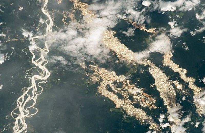 Астронавт NASA сфотографировал «золотые реки» перуанской Амазонии с борта МКС