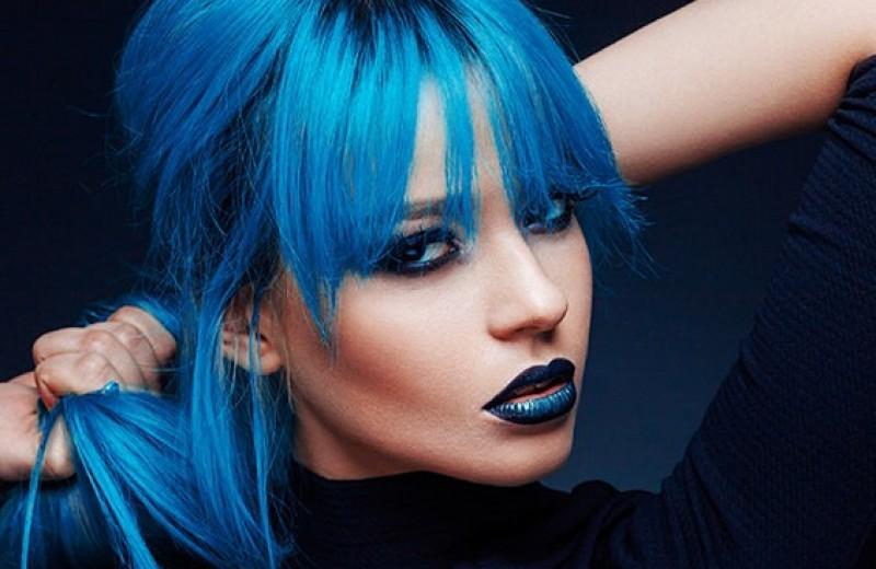 Синие волосы – оттенки, краски и тоники для волос