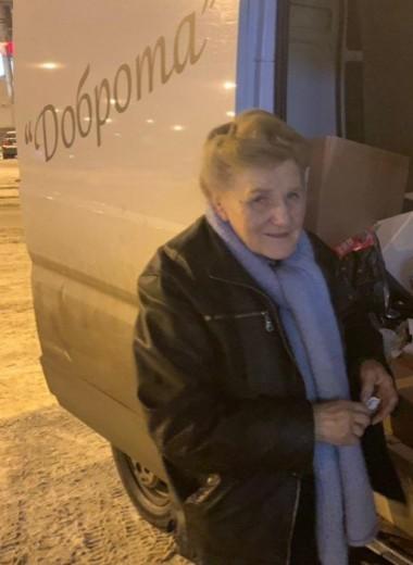Как 79-летняя блокадница из Петербурга помогает сотням людей, разъезжая по городу на фургоне «Доброта»