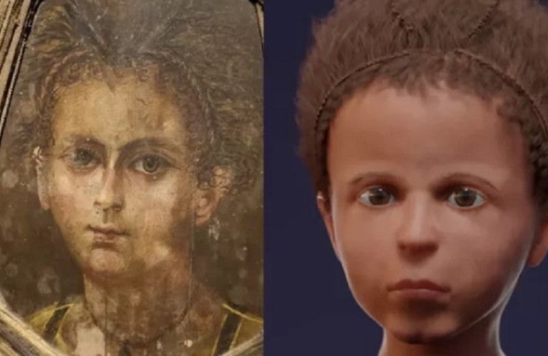 Реконструкция лица древнеегипетской мумии показала ее сходство с портретом на саркофаге