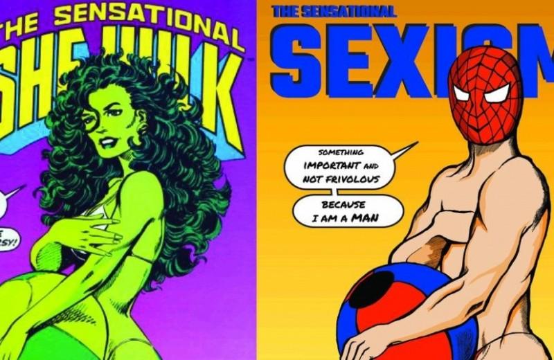 Супермен без трико, Айронмен на коленях: художница обнажает сексизм в комиксах