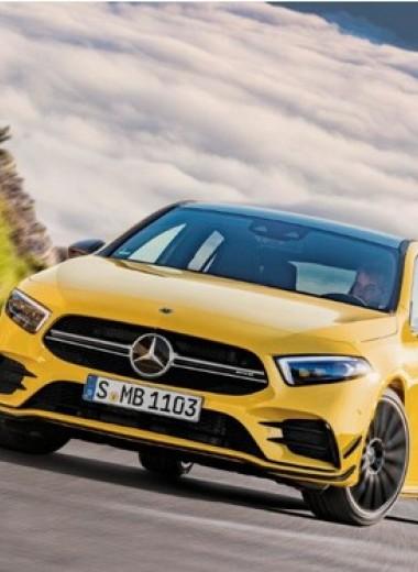 Mercedes-AMG A35: солнечный зайчик