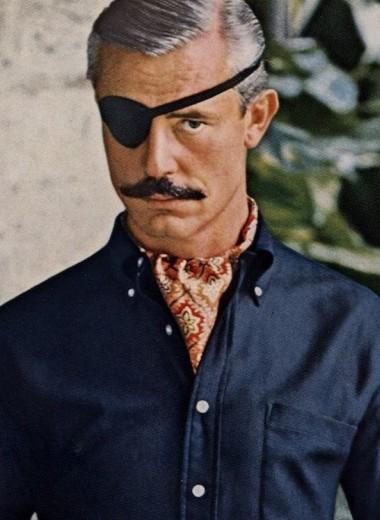 Роскошный мужчина с повязкой на глазу: как возник один из самых успешных рекламных образов в мужской моде XX века